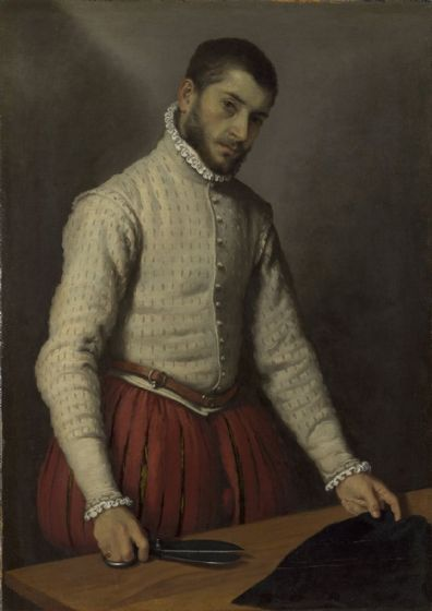 Moroni, Giovanni Battista: Portrait of a Man (The Tailor). Fine Art Print/Poster. Sizes: A4/A3/A2/A1 (001394)